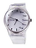 baratos Relógios da Moda-Mulheres Relógio de Moda Japanês Quartzo 30 m Relógio Casual Borracha Banda Analógico Elegante Branco Um ano Ciclo de Vida da Bateria