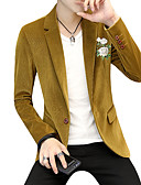 cheap Dress Watches-Men's Street chic Blazer - Solid Colored Print Floral Print