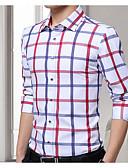 זול טישרטים לגופיות לגברים-פסים כותנה, חולצה - בגדי ריקוד גברים / שרוול ארוך