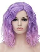preiswerte Damen Hosen-Synthetische Perücken Wellen Bubikopf Synthetische Haare Gefärbte Haarspitzen (Ombré Hair) / Mittelscheitel Perücke Damen Kurz Kappenlos