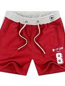 זול מכנסיים ושורטים לגברים-בגדי ריקוד גברים פעיל ישר / צ'ינו מכנסיים - אחיד אודם / ספורט / קיץ