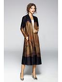 cheap Men's Jackets & Coats-JOJO HANS Women's Simple Casual Trench Coat-Solid Colored,Print V Neck