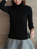 cheap Women's Sexy Clothing-Women's Long Sleeves Pullover - Solid Color Turtleneck