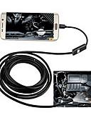 billige Dametopper-2in1 android&Pc 8.0mm linse hd endoskop 2,0 mega piksler 6 ledet ip67 vanntett inspeksjon borescope 2m lang fleksibel ledning