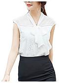 ieftine Bluză-Pentru femei În V Bluză Muncă Mată / Dantelat