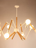 abordables Relojes de Vestir-LightMyself™ 8-luz Lámparas Colgantes Luz Ambiente Acabados Pintados Metal Madera / Bambú Negro y Blanco 110-120V / 220-240V Blanco Cálido / Blanco Bombilla incluida / E26 / E27