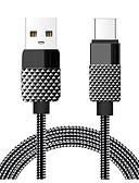 tanie Stylowe damskie płaszcze na zimę-Typ C Adapter kabla USB Wysoka prędkość / Szybka opłata Kable Na Macbook / Samsung / Huawei 100 cm Na Stop cynkowy