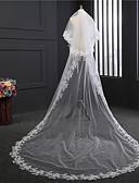 זול הינומות חתונה-שתי שכבות סגנון וינטאג' הינומות חתונה צעיפי קפלה עם ריקמה טול / קלאסי