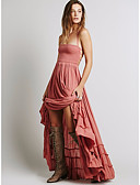 cheap Women's Dresses-Women's Cotton Trumpet / Mermaid Dress - Solid Colored Basic High Waist Maxi Strap