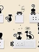 halpa Puhelimen kuoret-Eläimet Wall Tarrat Lentokone-seinätarrat Koriste-seinätarrat Valonkatkaisijan-tarrat, Vinyyli Kodinsisustus Seinätarra Kytkin Seinä