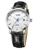 cheap Mechanical Watches-CADISEN Men's Fashion Watch Dress Watch Japanese Automatic self-winding Genuine Leather Black / Brown 50 m Water Resistant / Waterproof Calendar / date / day Casual Watch Analog Classic Fashion
