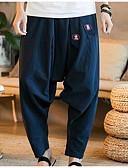 זול מכנסיים ושורטים לגברים-בגדי ריקוד גברים סגנון סיני כותנה צ'ינו מכנסיים אחיד
