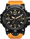 cheap Sport Watches-SMAEL Men's Sport Watch / Military Watch / Bracelet Watch Alarm / Calendar / date / day / Water Resistant / Water Proof PU Band Charm / Luxury / Vintage Black / Blue / Red / Luminous / Stopwatch