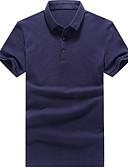 זול חולצות פולו לגברים-אחיד צווארון חולצה סגנון רחוב Polo-בגדי ריקוד גברים