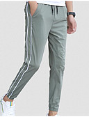 זול מכנסיים ושורטים לגברים-בגדי ריקוד גברים פעיל צ'ינו מכנסיים פסים