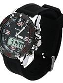 זול שעוני יוקרה-בגדי ריקוד גברים שעוני ספורט Japanese שעונים יום יומיים PU להקה יום יומי שחור / לבן / ירוק