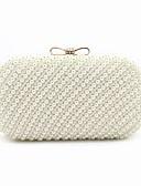ieftine Bluze Damă-Pentru femei Genți ABS + PC Geantă Seară Mărgele / Arc / Detalii Perlă Print Floral Bej