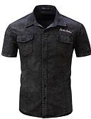 זול חולצות לגברים-אחיד רזה כותנה, חולצה - בגדי ריקוד גברים ג'ינס
