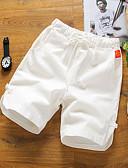 baratos Calças e Shorts Masculinos-Homens Activo Algodão Solto Shorts Calças - Sólido Estampado / Praia
