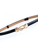 cheap Women's Belt-Women's Active / Basic Leather / Alloy Waist Belt - Solid Colored