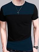 preiswerte Herren-Hosen und Shorts-Herrn Einfarbig - Street Schick T-shirt, Rundhalsausschnitt / Kurzarm