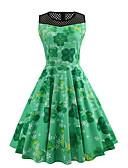 povoljno Ženske haljine-Žene Slim Swing kroj Haljina - Mrežica, Cvjetni print