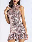 baratos Biquínis e Roupas de Banho Femininas-Mulheres Moda de Rua Delgado Bainha Vestido Acima do Joelho