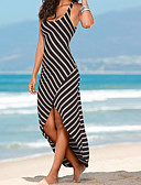 cheap Prom Dresses-Women's Basic Street chic Sheath Trumpet/Mermaid Dress - Striped, Backless