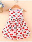 preiswerte Kleider für Mädchen-Mädchen Kleid Alltag Festtage Solide Blumen Druck Baumwolle Sommer Ärmellos Niedlich Aktiv Rote