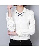 abordables Camisas para Mujer-Mujer Básico Festivos Bordado Camisa, Cuello Camisero Un Color / Primavera / Verano