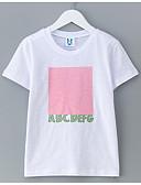 tanie Topy dla dziewczynek-Dzieci Dla dziewczynek Prosty Geometric Shape Krótki rękaw Bawełna T-shirt