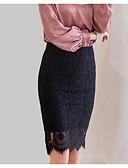זול שמלות נשים-אחיד - חצאיות עפרון סגנון רחוב בגדי ריקוד נשים