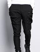 tanie Męskie spodnie i szorty-Męskie Puszysta Typu Chino Spodnie - Solidne kolory Nadruk Czarny