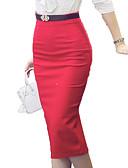 povoljno Ženske suknje-Žene Veći konfekcijski brojevi Bodycon Praznik / Izlasci Suknje - Jednobojni Visoki struk