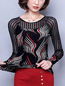 tanie Koszula-Bluzka Damskie Vintage Jendolity kolor