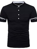 זול חולצות פולו לגברים-עומד סגנון רחוב Polo - בגדי ריקוד גברים / שרוולים קצרים