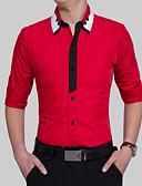tanie Męskie koszule-Rozmiar plus Koszula Męskie Aktywny Bawełna Szczupła - Wielokolorowa / Długi rękaw