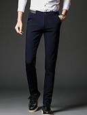 זול מכנסיים ושורטים לגברים-בגדי ריקוד גברים כותנה פשתן Business מכנסיים אחיד