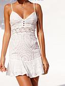 tanie Sukienki sylwestrowe-Damskie Moda miejska Szczupła Spodnie - Solidne kolory Biały Biały / Mini / Pasek / Wyjściowe / Kij / Seksowny