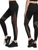 ieftine Rochii de Damă-Pentru femei Plasă Pantaloni de yoga - Negru, Albastru Închis, Gri Sport Gol Plasă Dresuri Ciclism / Leggings Fitness, Alergat, Sală de
