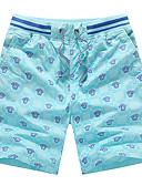 tanie Męskie spodnie i szorty-Męskie Sportowy Rozmiar plus Bawełna Szczupła Typu Chino / Krótkie spodnie Spodnie - Nadruk, Geometryczny