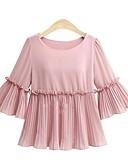 ieftine Bluză-Pentru femei Mărime Plus Size Bluză Șic Stradă - Mată Plisată / Vară / Bufantă