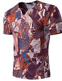 tanie Koszulki i tank topy męskie-T-shirt Męskie W serek Geometric Shape / Krótki rękaw