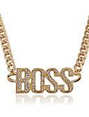 povoljno Jakne-Žene Monogrami Ogrlice s privjeskom - Imitacija dijamanta Moda, Ogroman Zlato, Pink 50 cm Ogrlice Jewelry Za Zabava / večer, Prom
