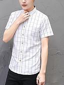 baratos Camisas Masculinas-Homens Camisa Social Negócio Básico Quadriculada