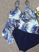 halpa Bikinit ja uima-asut 2017-Naisten Boheemi Tankini - Avoin selkä, Geometrinen Olkaimellinen