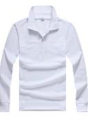 baratos Pólos Masculinas-Homens Polo Sólido Colarinho de Camisa / Manga Longa