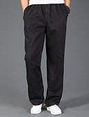 tanie Męskie spodnie i szorty-Męskie Bawełna Luźna Typu Chino Spodnie Solidne kolory