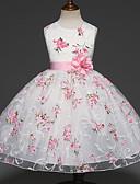 זול שמלות לבנות-שמלה ללא שרוולים שכבות מרובות פרחוני Party מתוק בנות ילדים