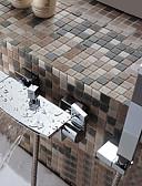 preiswerte Abendkleider-Badewannenarmaturen - Moderne Chrom Badewanne & Dusche Keramisches Ventil